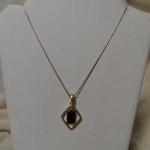Lia Sophia Black and Gold Necklace